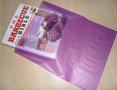 """50 Qty LAVENDER FROSTY 12"""" x 15"""" Merchandise FROSTED Bags w/ Die Cut Handles"""