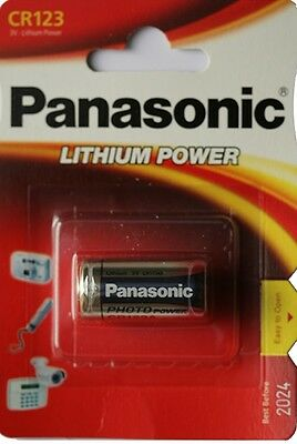 1 Pila Panasonic Cr123 3V Litio Camara Foto 123A Dl 123A El Cr123Ap Battery