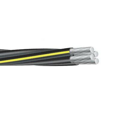 225' Dyke 2-2-2-4 Aluminum URD Cable direct burial quadruplex secondary wire