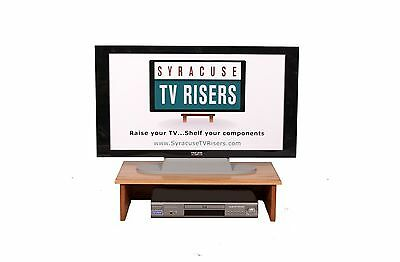 "LARGE DANISH OIL TV RISER-Solid-26""wide x14""deep x7"" high-by syracuse tv risers"