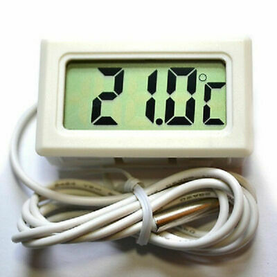 Thermometer digital weiß LCD -50° +70°C Temperaturmesser Digitalthermometer