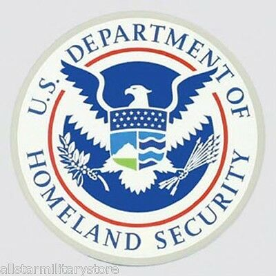 Department of Homeland Security Window Sticker DHS Federal Military Decal Gift