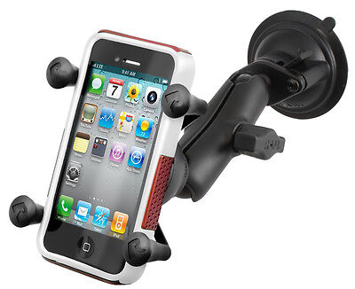 RAM Composite X-Grip Suction Cup Mount for All Original Size iPhone, Galaxy, Etc