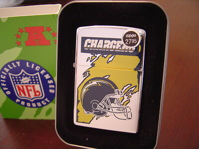 SAN DIEGO CHARGERS NFL ZIPPO LIGHTER RETIRED DESIGN MINT IN BOX