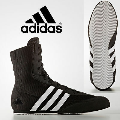 New Adidas Box Hog 2 Kids & Mens Black Hi Boxing Boots Trainer Shoes rrp £70