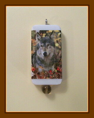 Gray Wolf In Fall Foliage Pendant