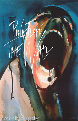 Poster : Music : Pink Floyd - The Wall - Screaming Head - Free Ship #7517 Lc19 G