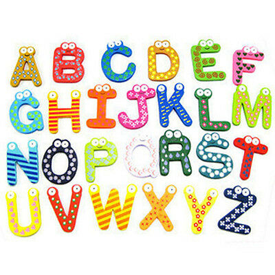 Wooden Fridge Magnet Alphabet & Number Kids Educational Toy Baby Gift 4 Styles