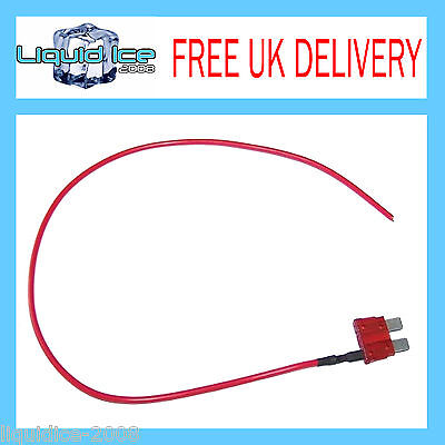 Autoleads Bsf10A 10 Amp Standard Spur Blade Fuse Lead Cable For Car Van Vehicle