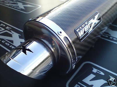 Pipe Werx Yamaha YZF R1 98-01 Carbon Round Exhaust Can, Silencer. Road Legal