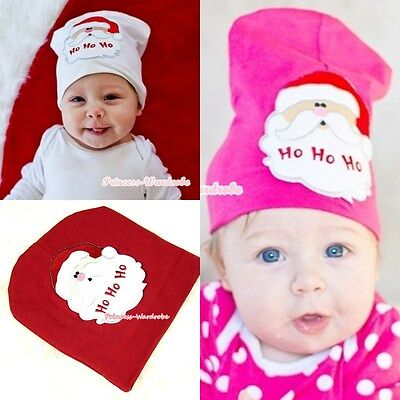 Xmas Newborn Toddler Cotton Warm hat Hat Santa Claus Print Beanie Cute Baby Cap