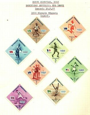 1957 Dominica IMPERF OLYMPIC MUH Stamp D5