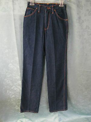 VTG 70's Wrangler High Waist Jeans JR's Size 27 X 34 No Fault Denim Made in USA