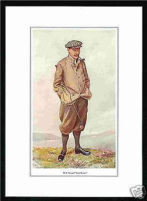 Packet  Of  50  -  Vanity  Fair  Prints  -  Golfer  -  Mr.  R.  Maxwell