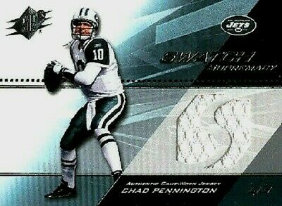 CHAD PENNINGTON 2004 SPx SWATCH SUPREMACY GAME USED JERSEY