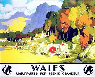 "TT82 Vintage Thames Valley GWR Railway Travel Poster Print A3 17/""x12/"""