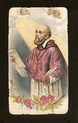 Vecchio Santino SAN FRANCESCO DI SALES Old Holy card