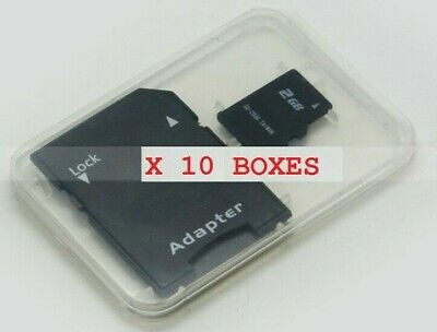 10 X Plastic Storage protective Case Holder Box For SD SDHC Memory Card Micro SD