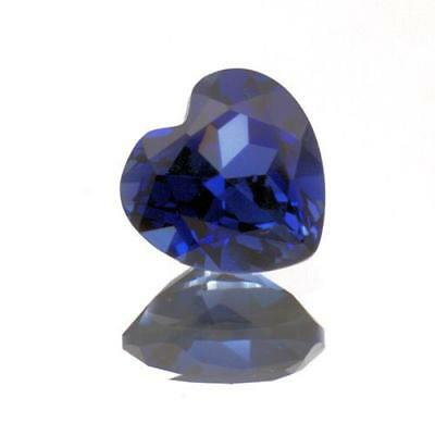 6mm Heart Lab Created Blue Sapphire