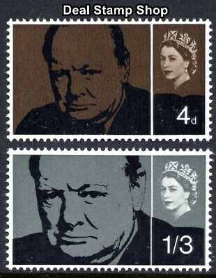 GB 1965 Churchill Commemoration Ordinary SG661/2 Complete Set Unmounted Mint
