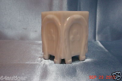 """EAPG Toothpick Holder - Maker Not KNown """"Horseshoe with Clover"""" ca:1900"""