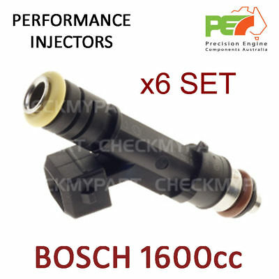 6x Genuine * BOSCH * 1600cc - High Impedance - 14mm Fuel Injector- Only 5 sets