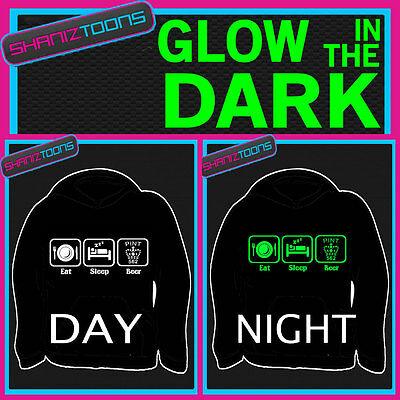 Love Beer Drinking Dads Funny Adults & Childrens Glow In The Dark Hoodie Hoody