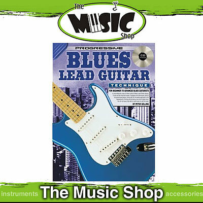 New Progressive Blues Lead Guitar Technique Learn to Play Music Book with CD