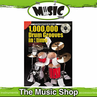 New Progressive 1 Million Drum Grooves in 4/4 Time Book & CD by Craig Lauritsen