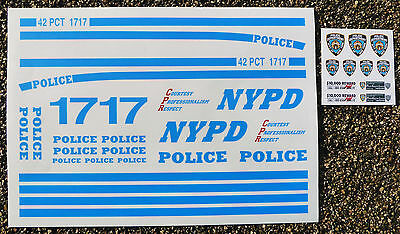 RC 'NYPD' 1/10th scale NEW YORK POLICE DEPARTMENT decals stickers