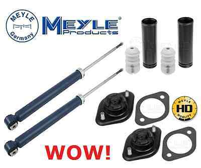 For Bmw E46 Rear Shock Absorber Shocker Top Mount Meyle Hd Bump Stop Dust Covers