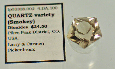 Quartz  variety (Smokey) (lp3308.002) Pikes Peak District, CO, USA.