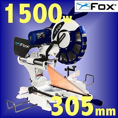 FOX F36-259DB 110v 305mm 12 LASER guided Sliding Double Bevel Compound Mitre Saw
