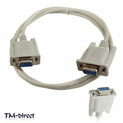 2M DB9 RS232 9 Pin Male to Female Straight Extension Modem Serial Cable Lead