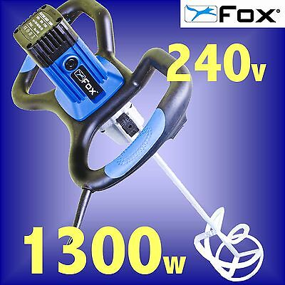 FOX F7860 240v 1300w Paddle Power Mixer plaster paint cement mortar 3yr Warranty