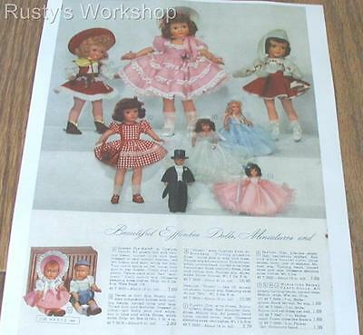1940's Effanbee  HONEY dolls & NASB &( Eugenia) dolls Ward's Catalog Ad (Repro)