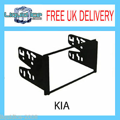 Dfp-03-06 For Kia Sedona 2002 - 2006 Black Double Din Fascia Facia Adaptor Trim