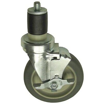 "SWIVEL STEM CASTER W/BRAKE 5"" Wheel 1-5/8 OD TUBING for CHG CMS4-5PBN 262411"