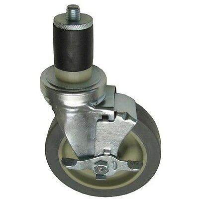 "SWIVEL STEM CASTER W/BRAKE 5"" Wheel 1-5/8 OD TUBING for Blodgett CHG 262407"