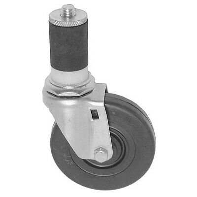 "SWIVEL STEM CASTER 4"" Wheel 1-5/8 OD TUBING Grey Rubber for CHG C13-1440 262388"