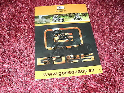 Catalogue / Brochure GOES Quads 2010 //