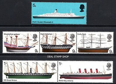 GB 1969 Ships Complete Set SG778-783 Unmounted Mint