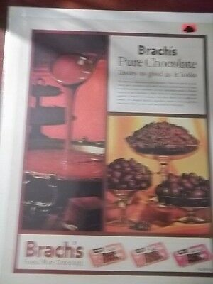 1961 Vintage Print Ad Brach's Chocolate Candy 10X13 Bridge Mix, Peanuts, Stars