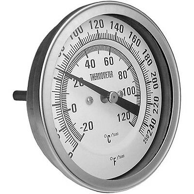 """THERMOMETER 3 0-250F 1/2'' MPT 3"""" DIA FACE for Champion Dishwasher 40KB 621014"""