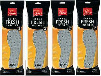 New 8 Pair  Extra Fresh Shoe Insole Odour Eaters Unisex  One Fits All