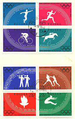 1960 Poland OLYMPIC BLOCK FINE USED Stamp D7