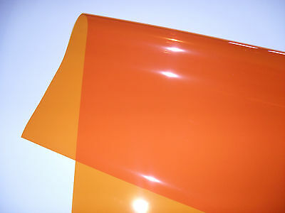 "21 X 48"" 179 CHROME ORANGE Lighting Filter Colour Gel Theatre DJ TV Party Lights"