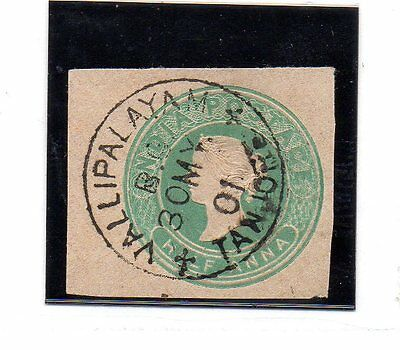 India Inglesa Vallipalayan Tanjore valor del año 1901 (AS-81)