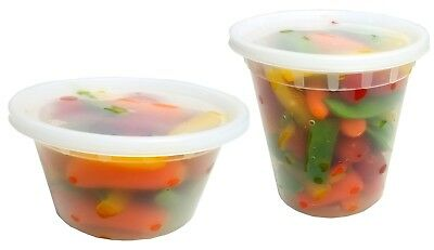 12 + 24 oz. Clear Plastic Soup/Food Storage Freezer Containers w/Lids 48/EACH