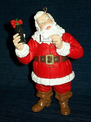"4.25"" SANTA CLAUS COCA-COLA Coke CHRISTMAS Ornament 1994"